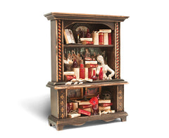 Miniature Wood Bookcase Ornament - XL