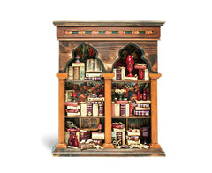 Miniature Wood Bookcase Ornament - XXL