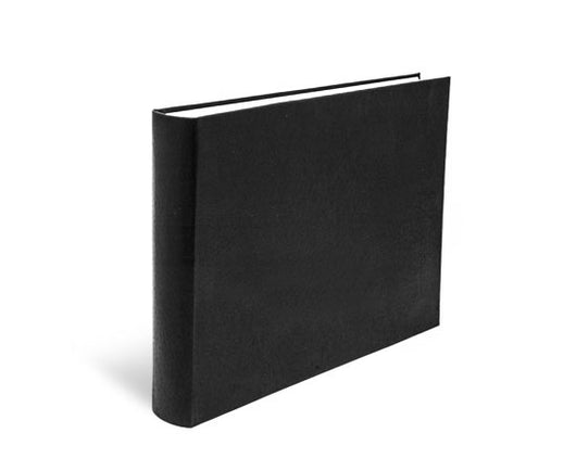 Landscape Format Italian Black Leather Photo Album 14x10