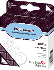 Self Adhesive Photo Corners Clear