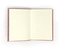 Pink Leather Bound Notebook With Lined Pages
