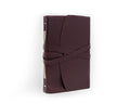 Softest Leather Wrap Journal - Hand Stitched - Bordeaux Red