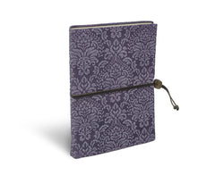 Barocco Suede Notebook - Lavender Frost