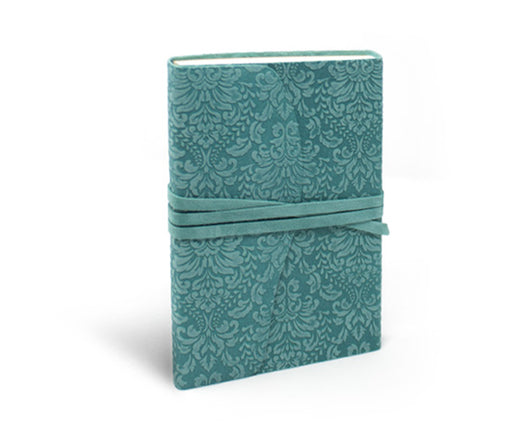Barocco Suede Leather Notebook - Wrap Style (in 5 colors)