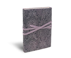 Barocco Suede Notebook - Wrap Style - Lavender Frost