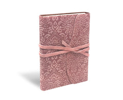 Barocco Suede Notebook - Wrap Style - Millennial Pink