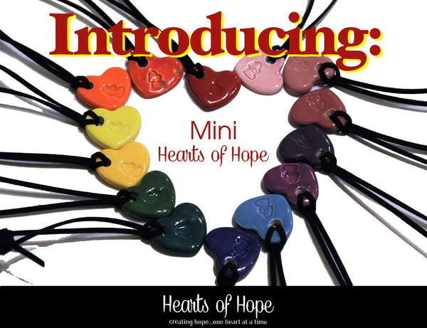 NEW! Sets of 3, Mini Hearts of Hope, Just 20.00
