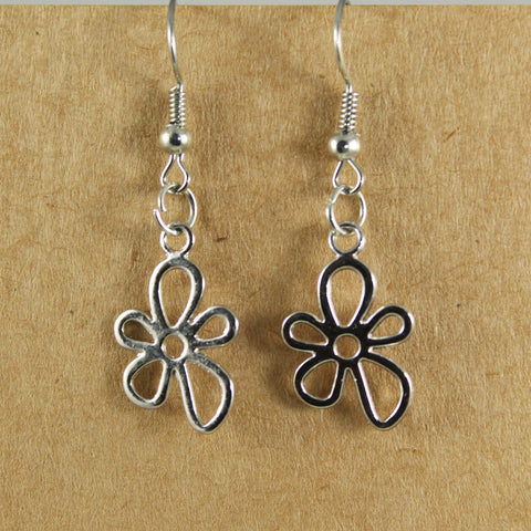 Daisy flower drop earrings - the naughty shrew