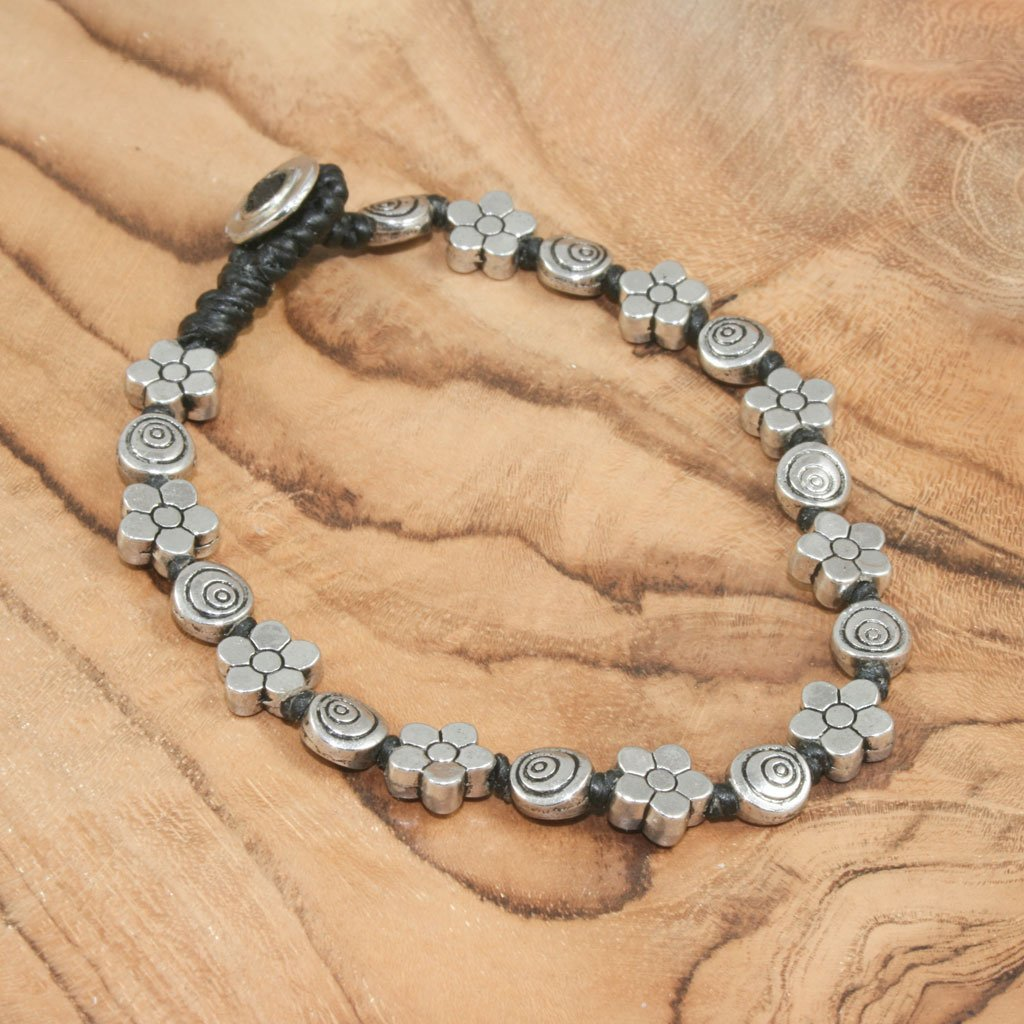 Flower & spiral bead bracelet | Bracelet - The Naughty Shrew