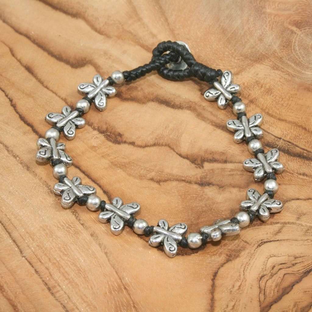 Butterfly charm bracelet | Bracelet - The Naughty Shrew