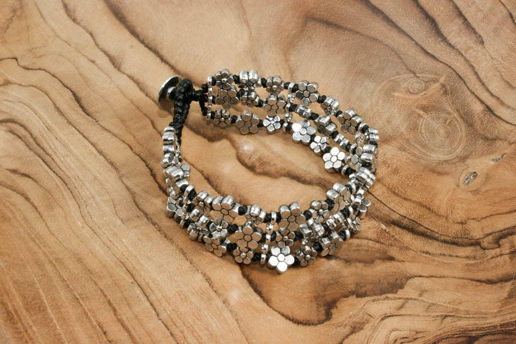Triple strand flower bracelet | Bracelet - The Naughty Shrew