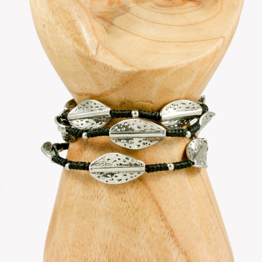 Leaf wrap-around bracelet | Bracelet - The Naughty Shrew