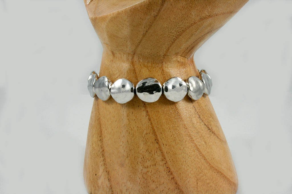 Beaten Metal Disc Bracelet | Bracelet - The Naughty Shrew