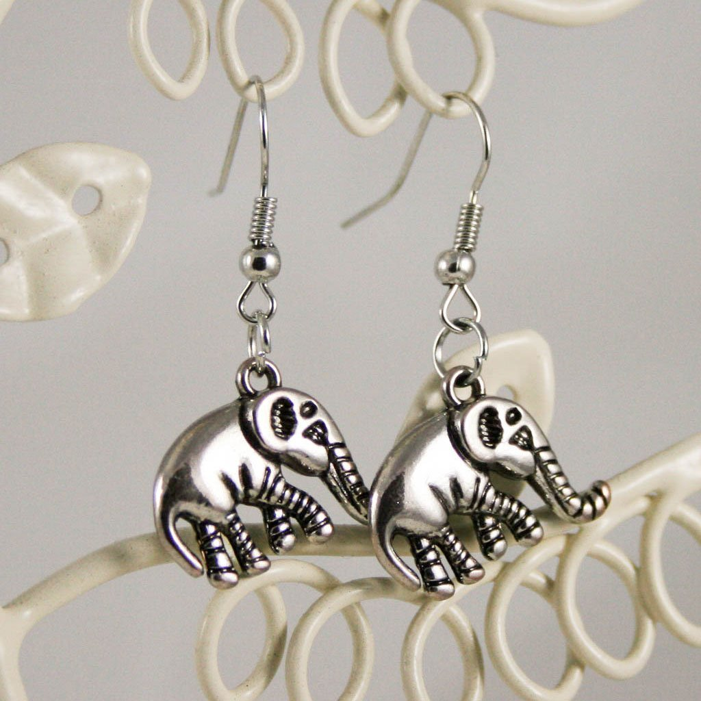Elephant charm earrings | Earrings - The Naughty Shrew