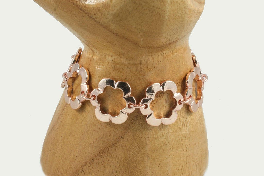 Rose gold flower bracelet | Bracelet - The Naughty Shrew