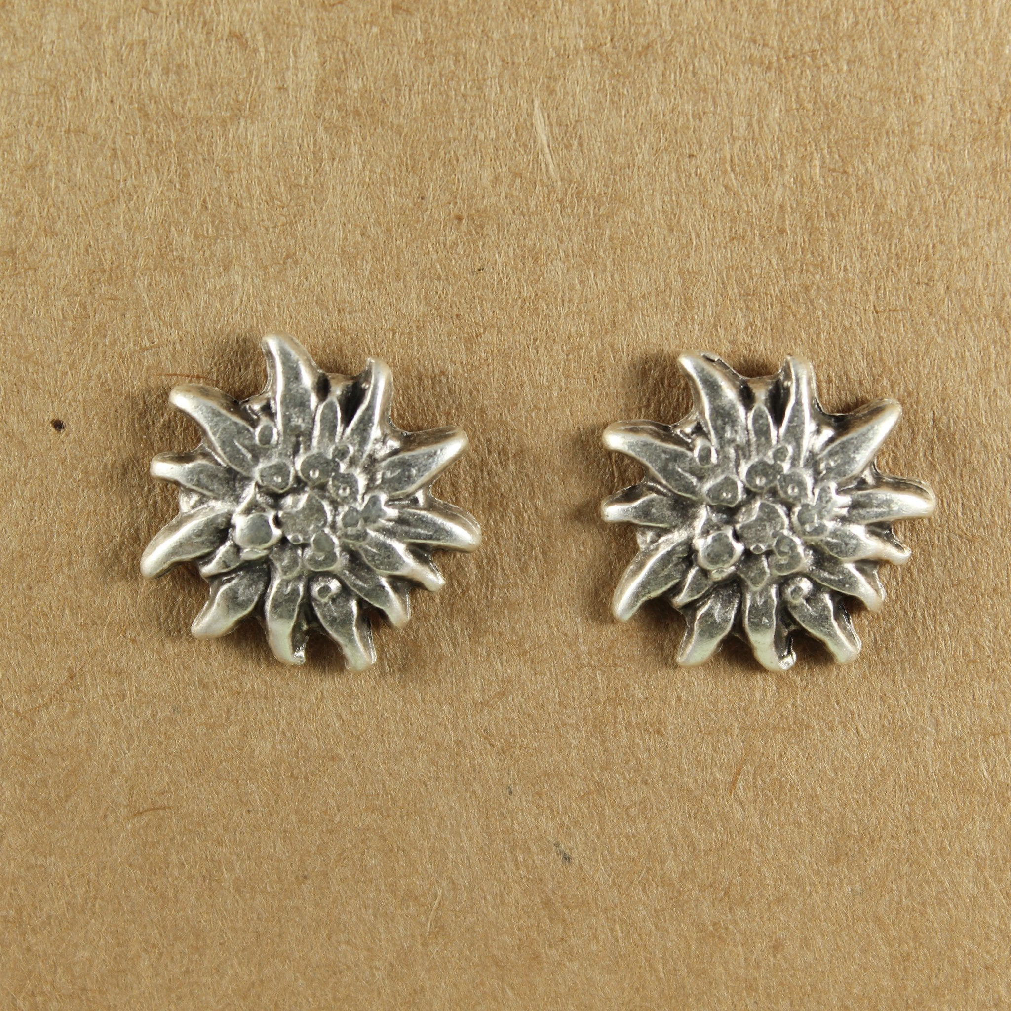 Silver plated sunflower stud earrings | Earrings - The Naughty Shrew