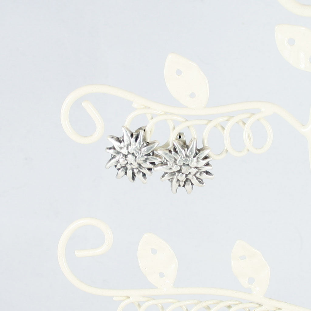 Silver plated sunflower stud earrings - the naughty shrew