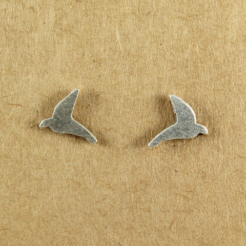 Silver plated dove stud earrings - the naughty shrew