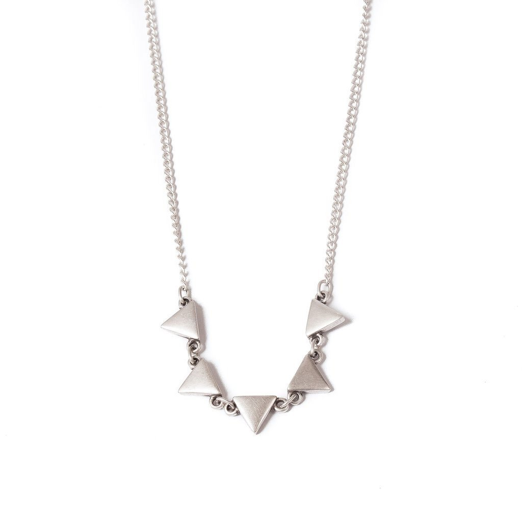 Silver plated triangle necklace | Necklace - The Naughty Shrew