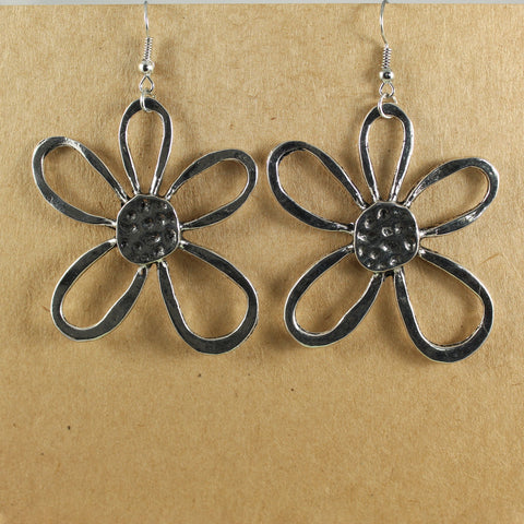 Large daisy flower earrings - the naughty shrew