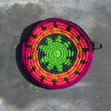 Round Crochet Purse - Pink & Green | Purse - The Naughty Shrew