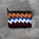 Rectangular Crochet Coin Purse - Orange & White | Purse - The Naughty Shrew