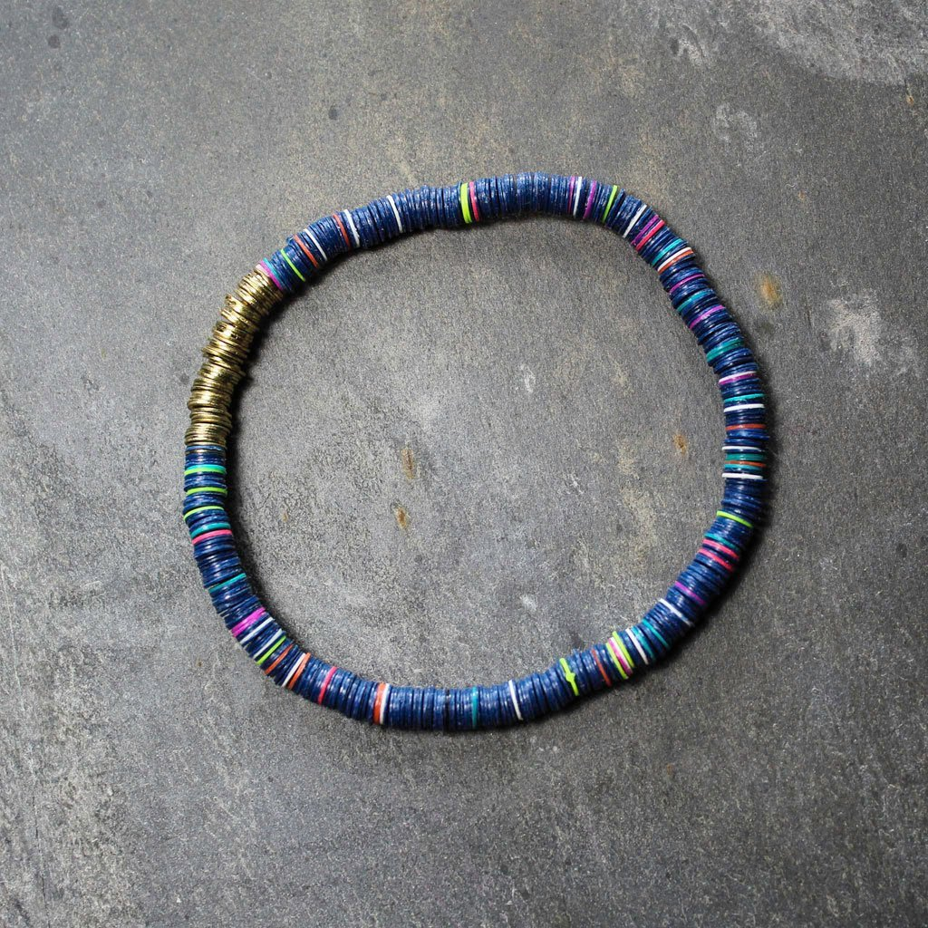 Small sequin bracelet - blue | Bracelet - The Naughty Shrew