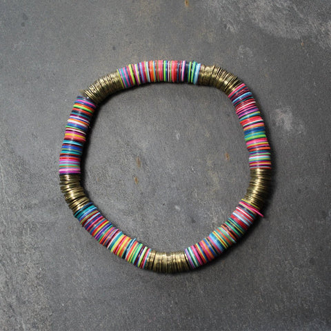 Large sequin bracelet - rainbow colours - the naughty shrew