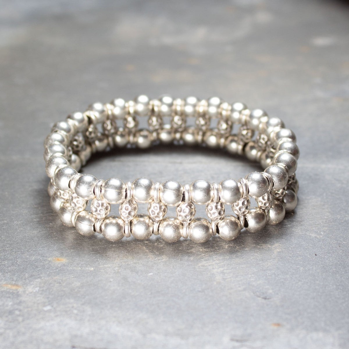 Triple stacked elasticated bracelet | Bracelet - The Naughty Shrew
