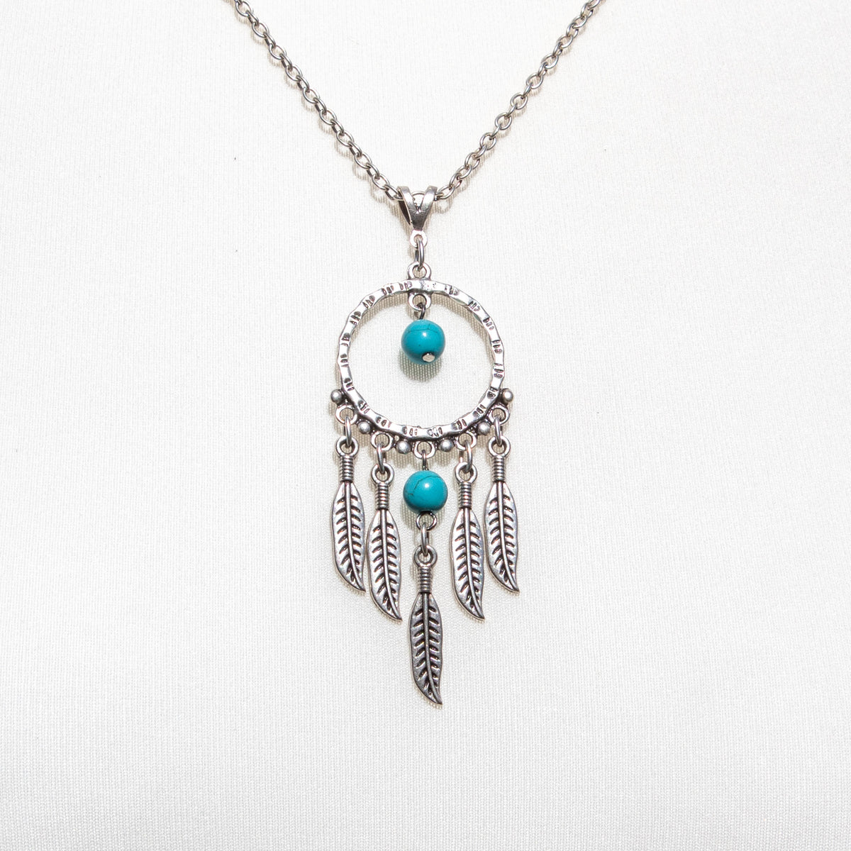 Dreamcatcher Necklace With Turquoise Stones | Necklace - The Naughty Shrew
