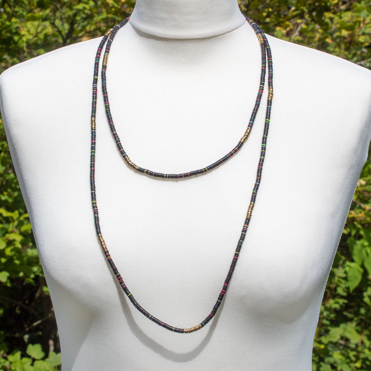 Extra-Long Black Sequin Necklace | Necklace - The Naughty Shrew