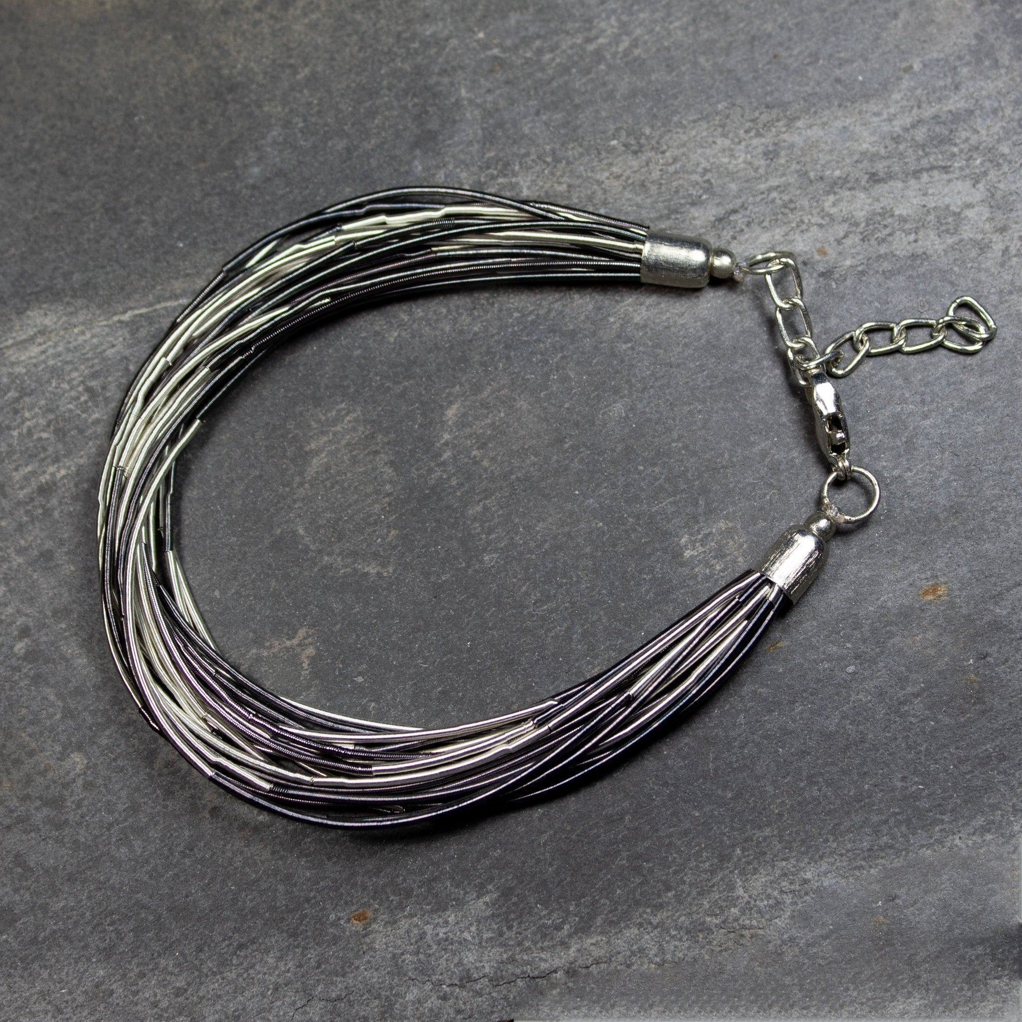 Black & Grey Wire Bracelet | Bracelet - The Naughty Shrew