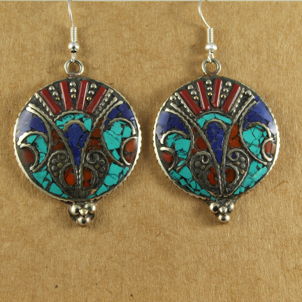 Patterned Circle Earrings - The Naughty Shrew
