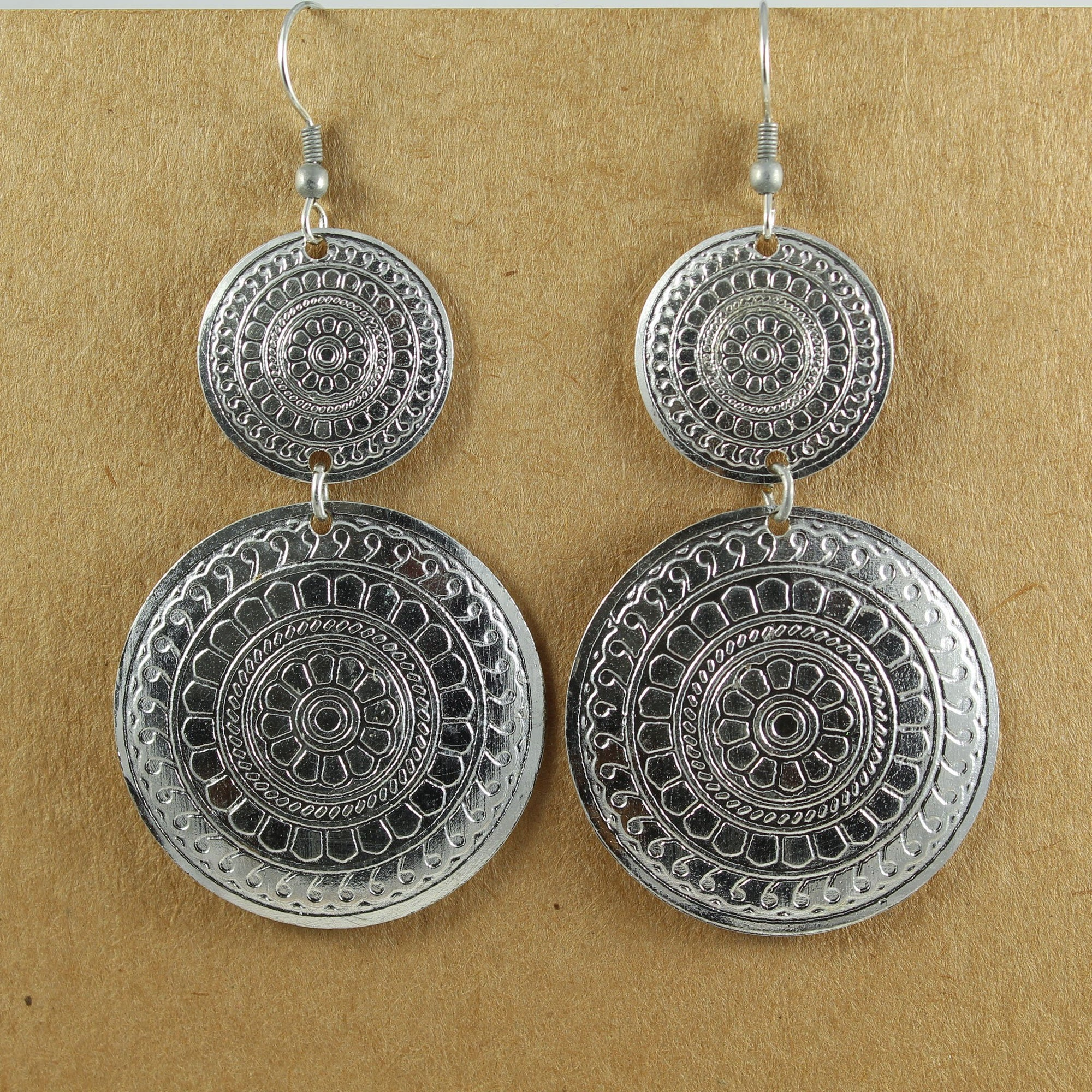 Decorated Double Circle Earrings | Earrings - The Naughty Shrew