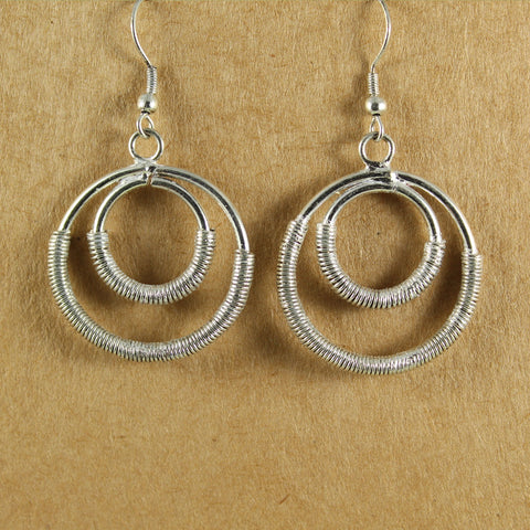 Double Circle Wrapped Wire Earrings - the naughty shrew