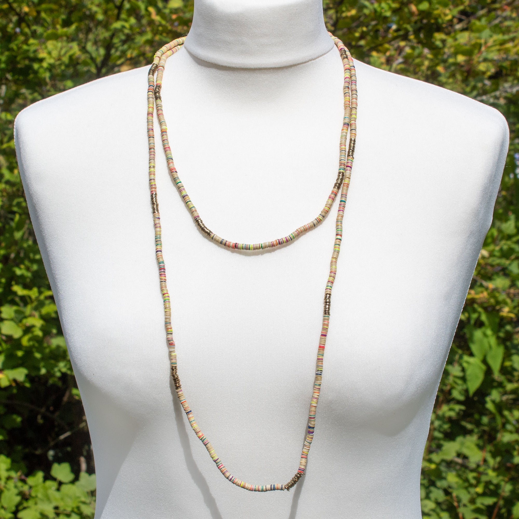 Extra-Long Cream Sequin Necklace | Necklace - The Naughty Shrew