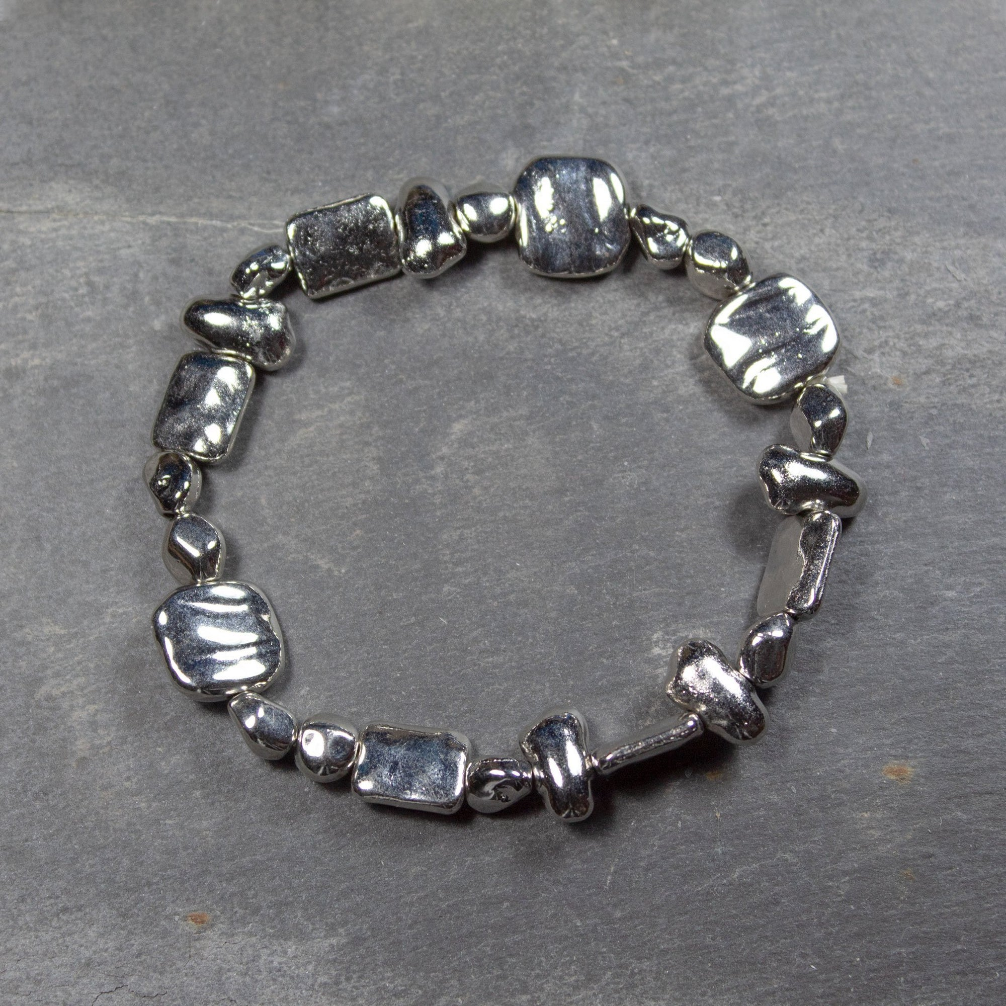 Metallic Bead Bracelet | Bracelet - The Naughty Shrew