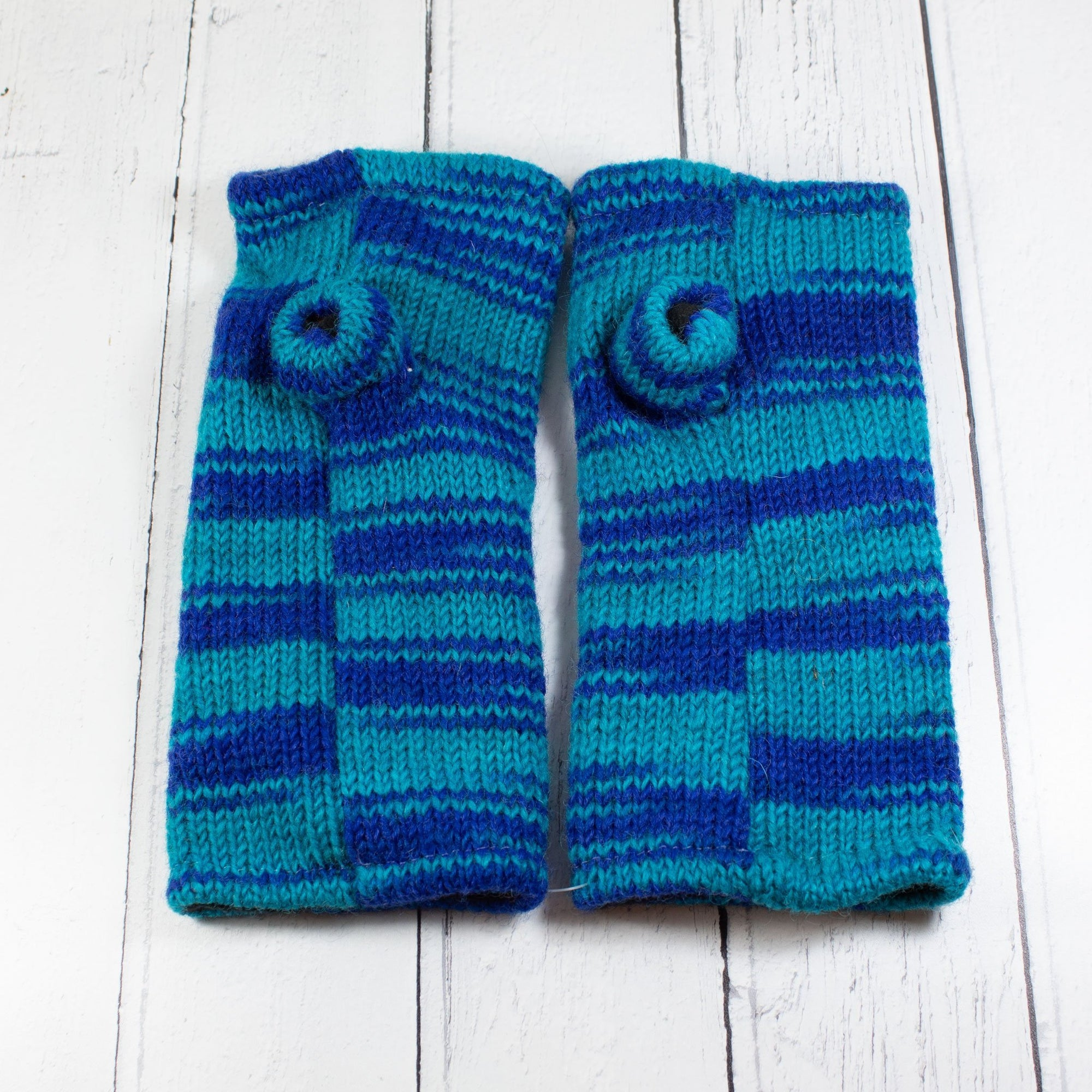 Blue & Turquoise Fingerless Gloves | Gloves - The Naughty Shrew