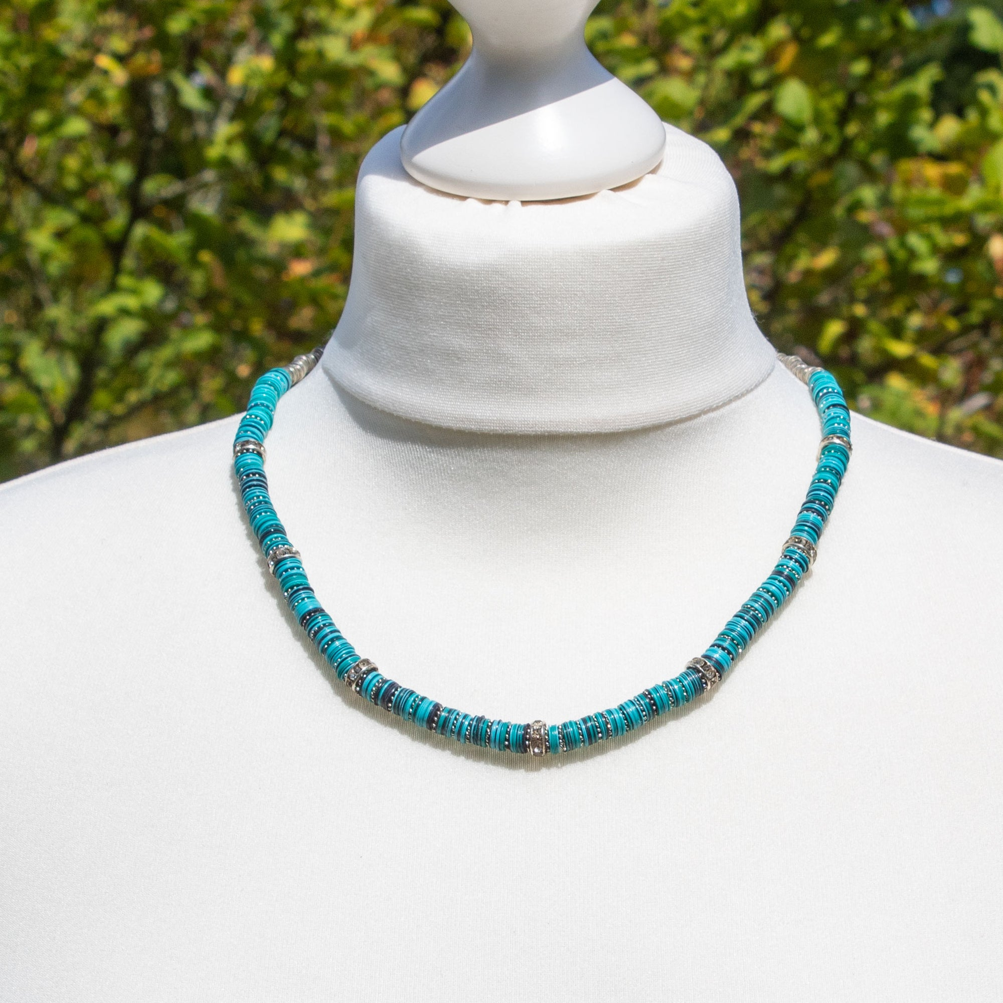 Turquoise/Blue Sequin Necklace | Necklace - The Naughty Shrew
