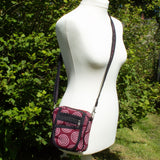 Cross Body Bag - Red Circle Fabric | Bag - The Naughty Shrew
