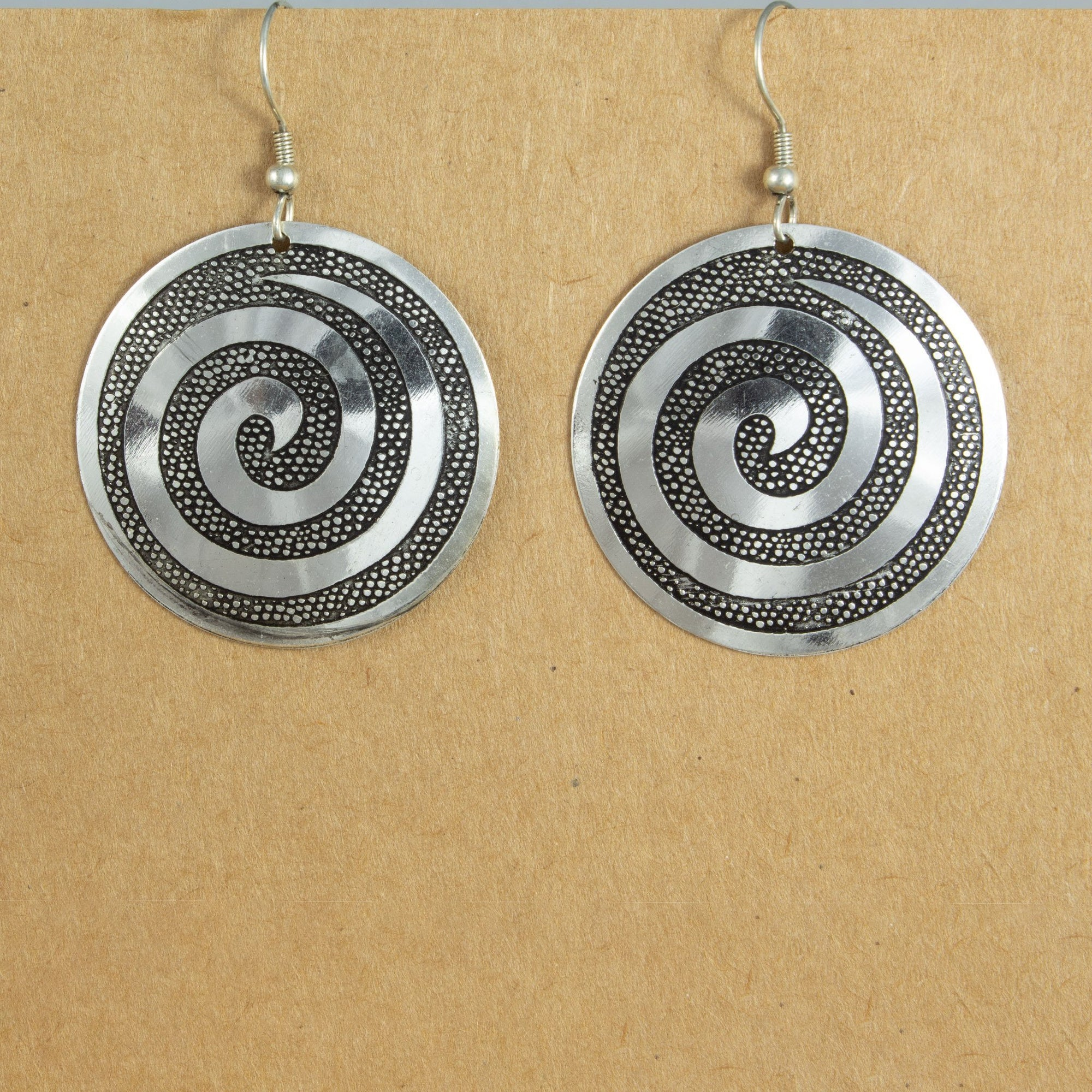 Circle Spiral Earrings | Earrings - The Naughty Shrew