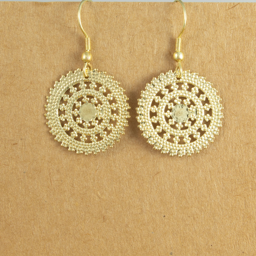 Delicate Circle Earrings - The Naughty Shrew