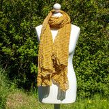 Orange & Grey Stripy Scarf - The Naughty Shrew