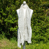 Grey & White Spotty Scarf | Scarf - The Naughty Shrew