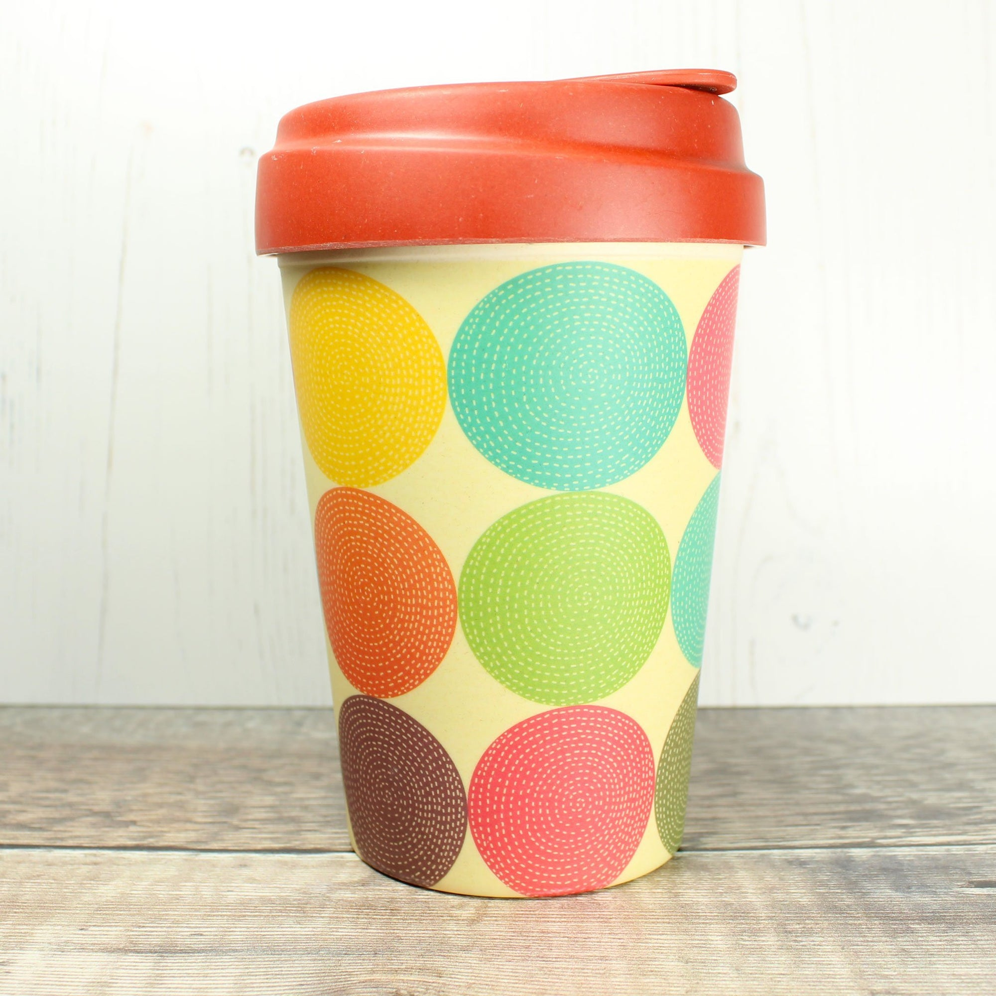 Bamboo Cup - Bright Circles | Bamboo Cup - The Naughty Shrew