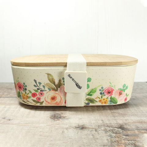 Bamboo Lunch Box - Flowers - the naughty shrew