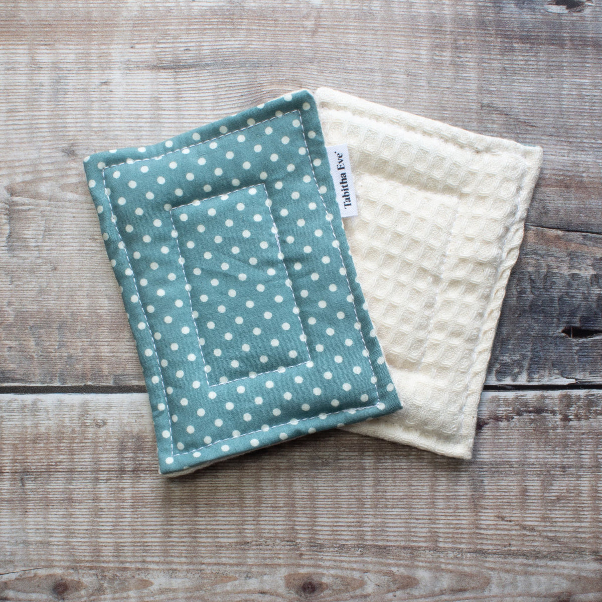 None Sponge - 2 Pack - Teal & White Dot | Washing Up Sponges - The Naughty Shrew