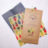Beeswax Food Wrap - Lunch Pack - Pineapple Design
