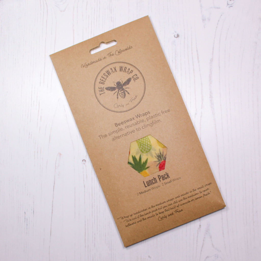 Beeswax Food Wrap - Lunch Pack - Pineapple Design - the naughty shrew