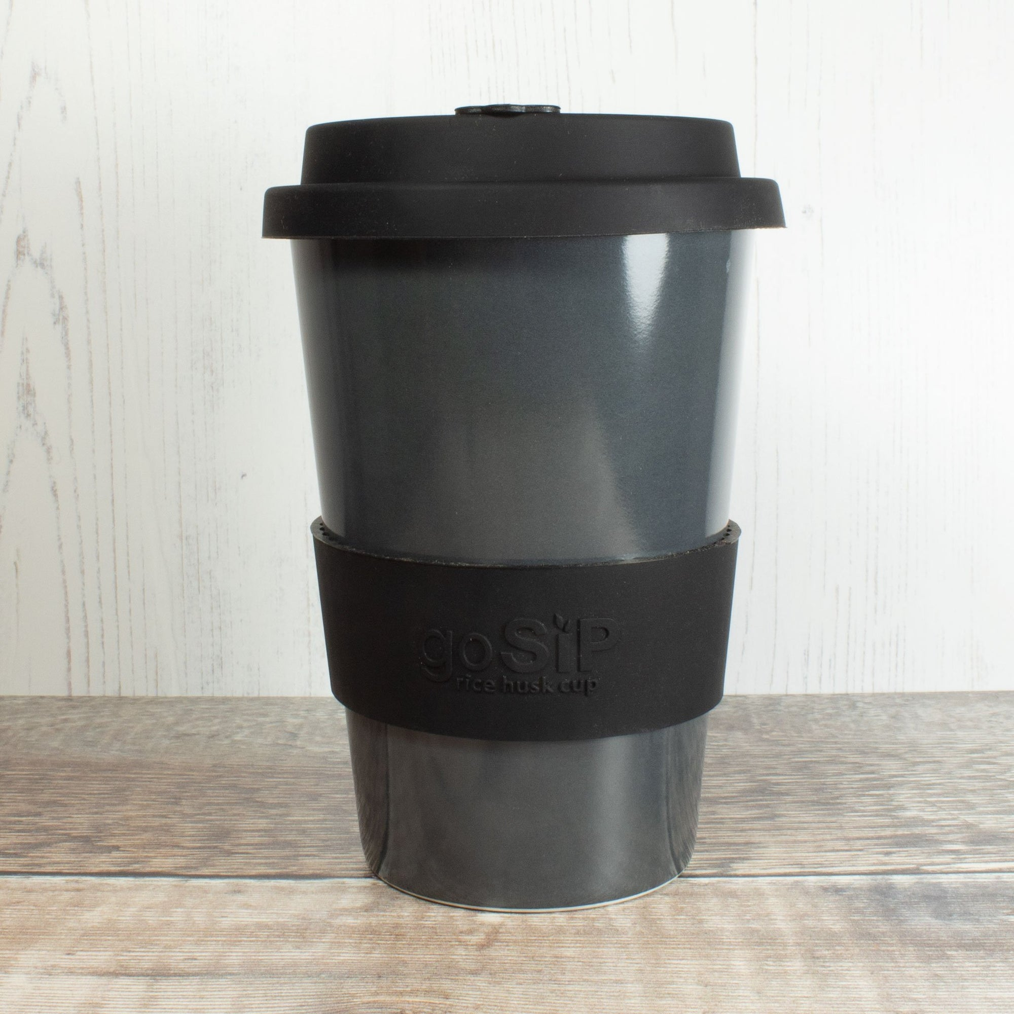 Rice Husk Coffee Cup - Charcoal | Cup - The Naughty Shrew